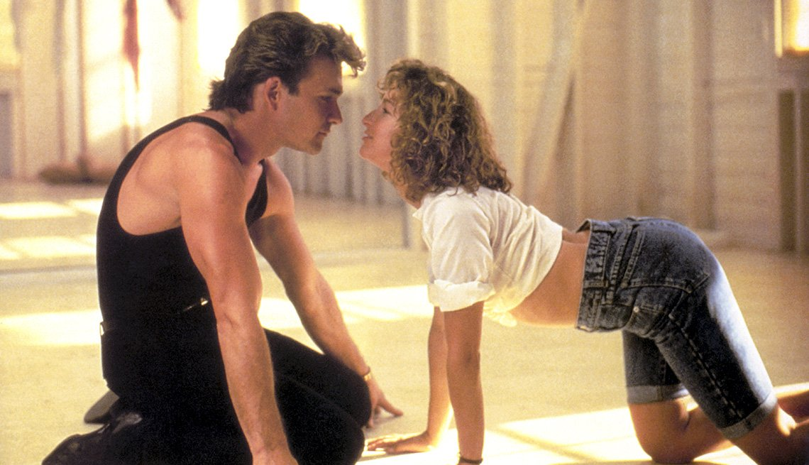 Patrick Swayze and Jennier Grey in 'Dirty Dancing'