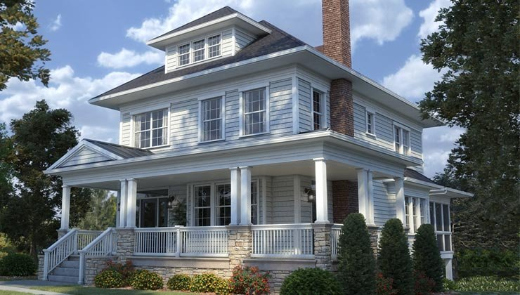 Universal Design helps people to age in place- a wraparound porch protects the house from weather