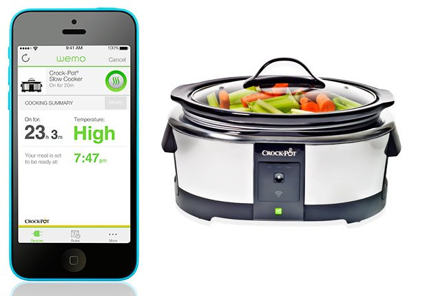 Smartphone with Wemo and Wemo Crockpot, Tech Gear Guide