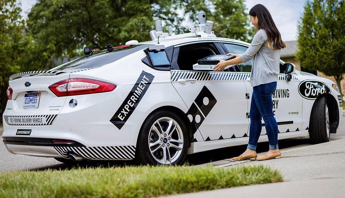 Domino's Driverless pizza delivery