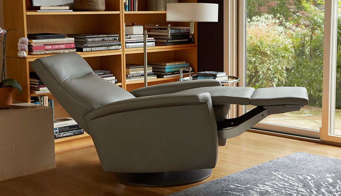 The stodgy recliner gets a boomer-inspired makeover