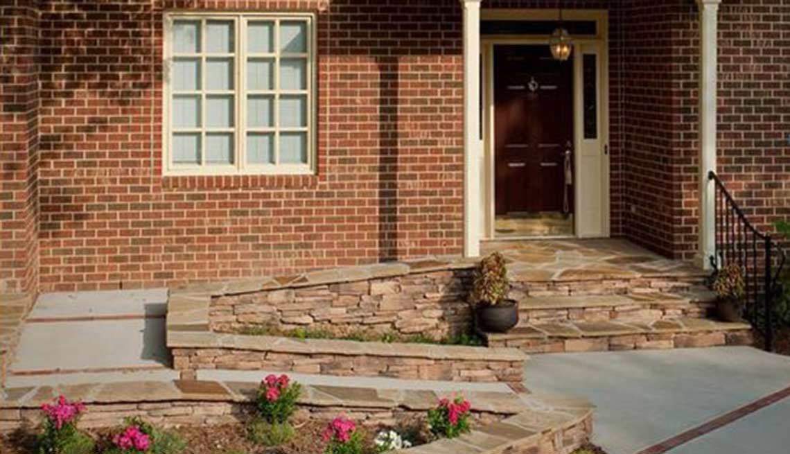 When done right, an entrance ramp blends with a home's look.