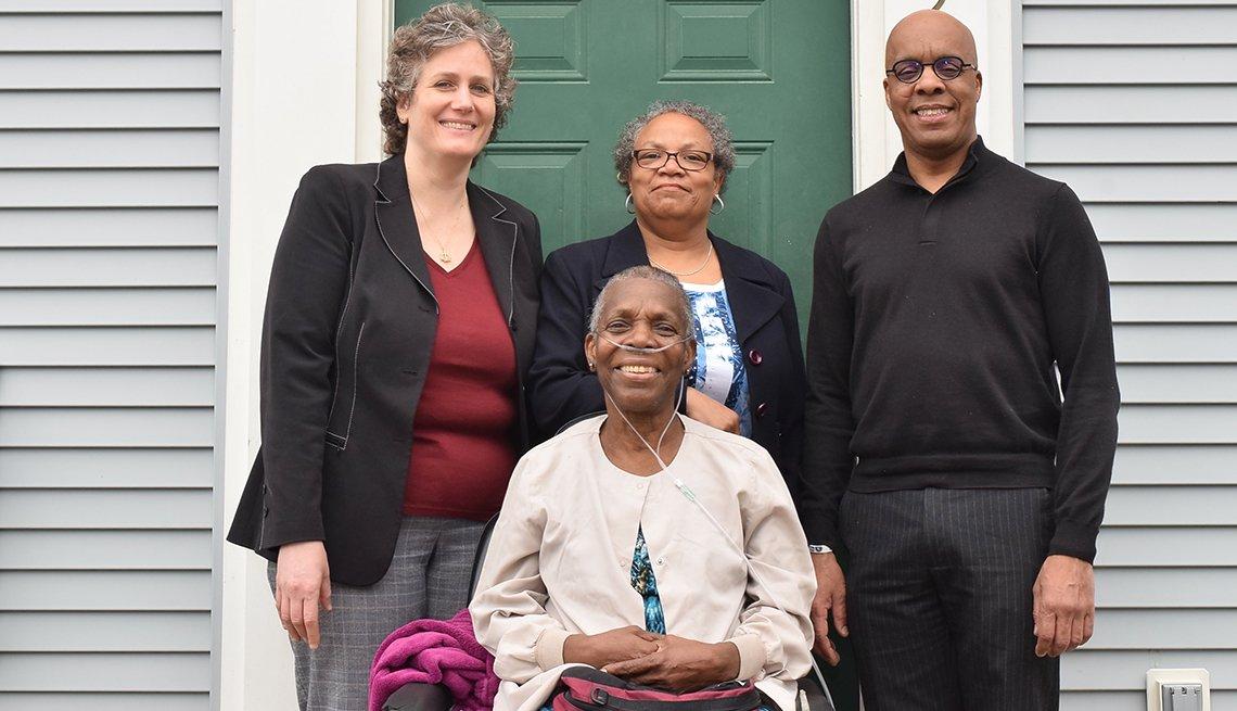 LCE Client, Ms. T (LCE Attorney, Jennifer Berger, LCE Social Worker, Karen Cobble, Ombudsman Albert Reed)