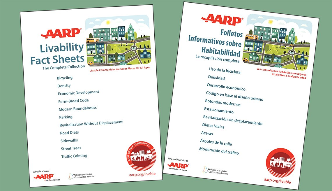 The AARP Livability Fact Sheets are available in English and Spanish