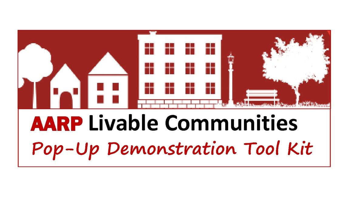 Logo for the AARP Livable Communities Pop-Up Demonstration Tool Kit