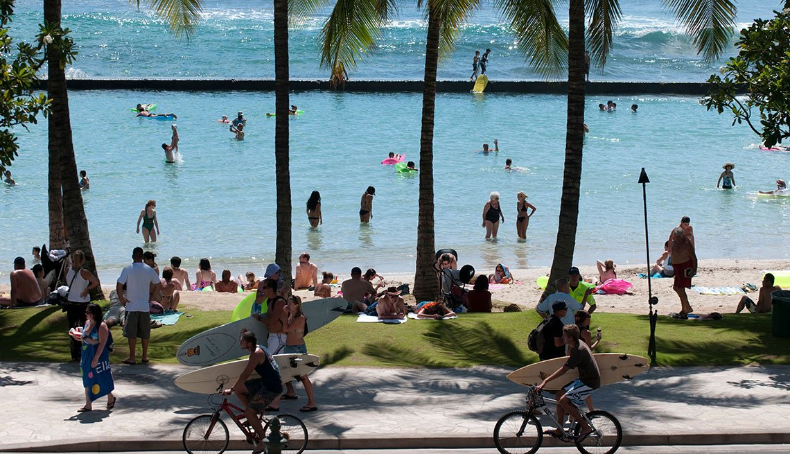 Honolulu, Hawaii, Island, People Enjoy The Beach, Livable Communities, Great Cities For Older Adults