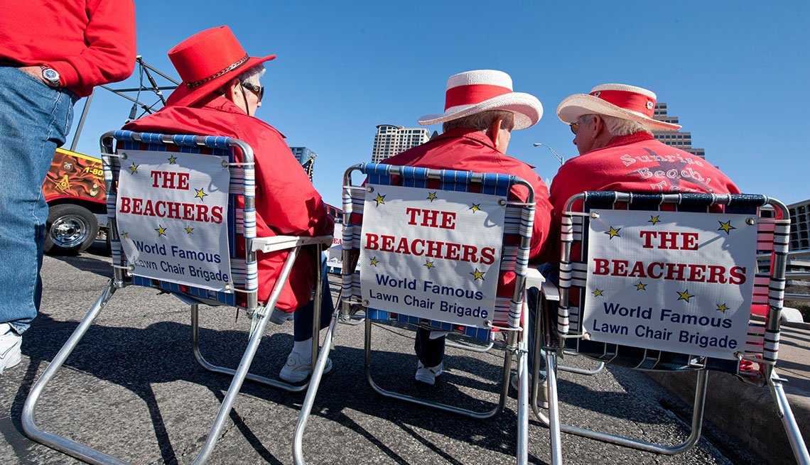 Elderly People Sit In Lawn Chairs Waiting For Parade, Texas, Austin, Livable Communities, Great Cities For Older Adults