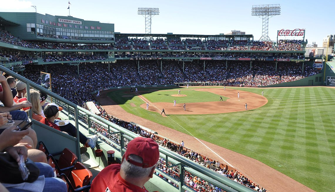 Fenway Park, Baseball, Fans In Seats Watch A Baseball Game, Boston, Sports, Livable Communities, Great Cities For Older Adults