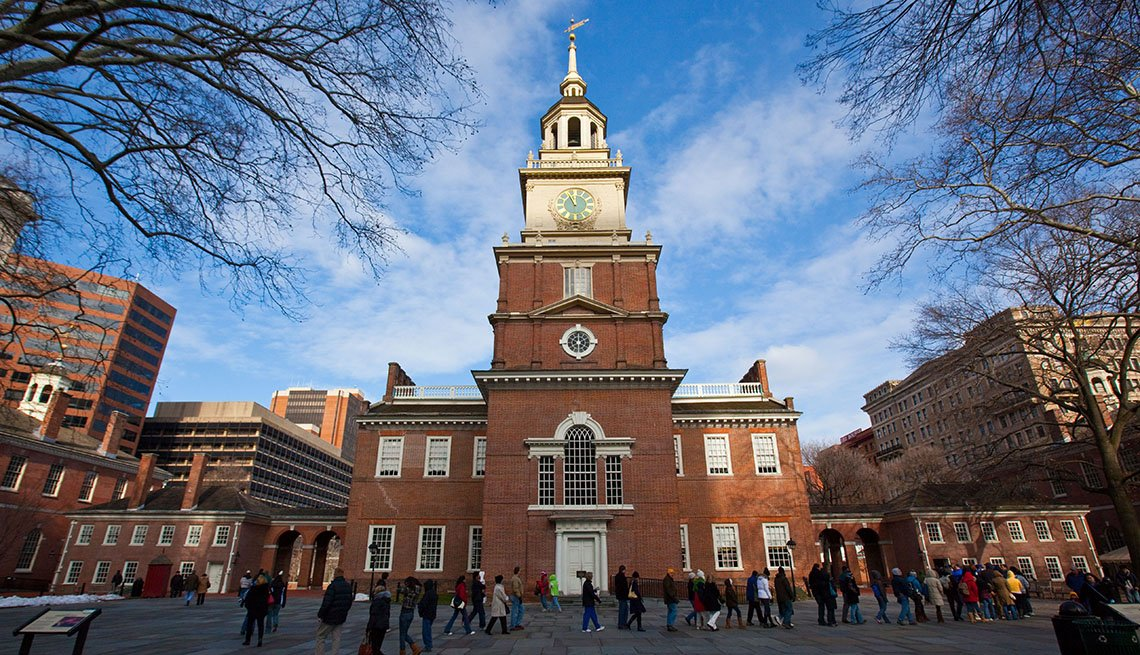 Independence Hall, Philadelphia, Pennsylvania, City Center, People, Tourist Attraction, Livable Communities, Great Cities For Older Adults
