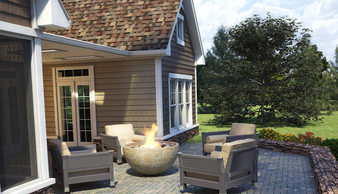 Backyard, Patio, Furniture, Residence, Livable Communities, 2014 Home For Life