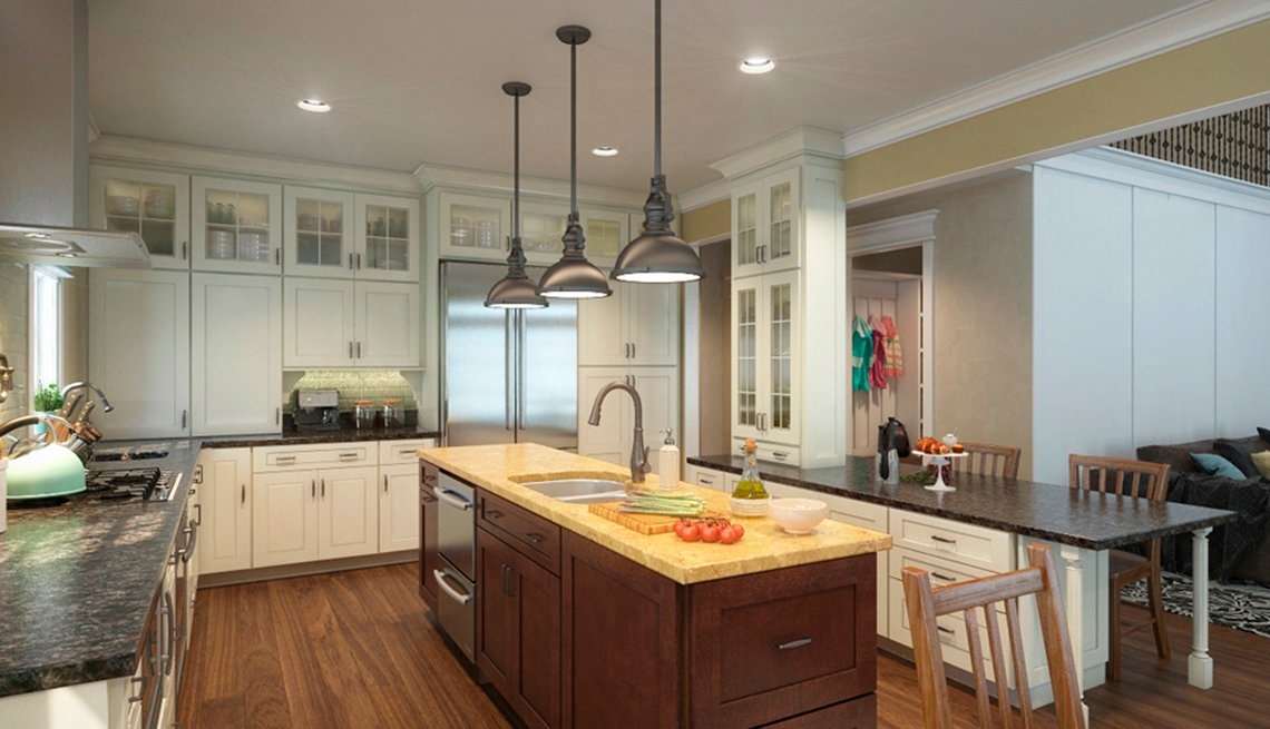 Kitchen, Island, Sink, Residence, Livable Communities, 2014 Home For Life