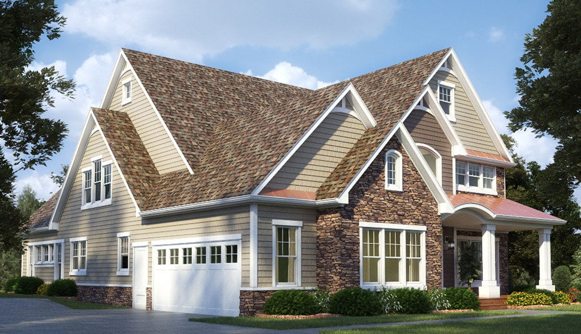Exterior Home Of House, Garage, Front Door, Livable Communities, 2014 Home For Life