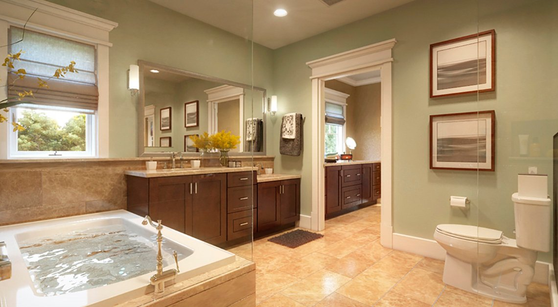 Bathroom, Tub, Toilet, Sinks, Residence, Livable Communities, 2014 Home For Life