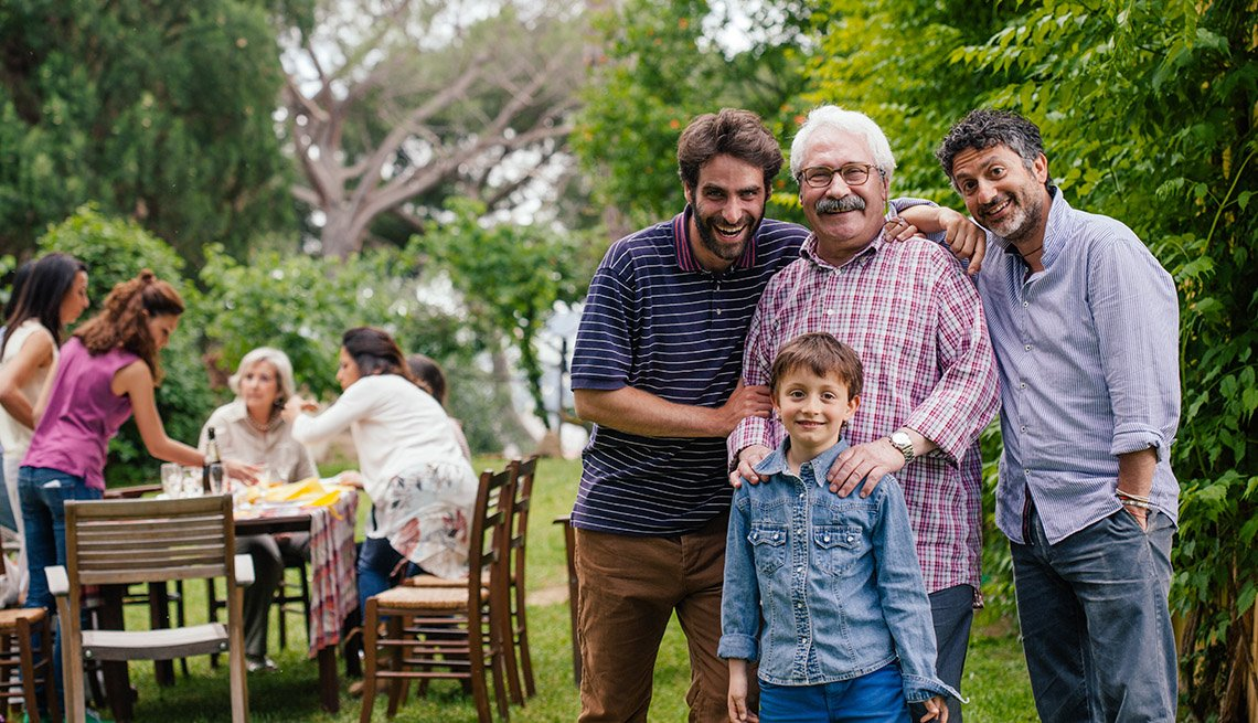 Multi-Generational Family Poses And Smiles, Park, Livable Communities, 8 Features Of An Age Friendly Community