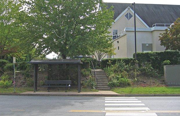 Missing sidewalks and steps to a senior center