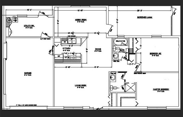 Floor plan of the house before renovations.
