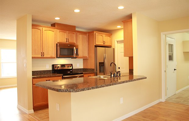 The kitchen after remodeling.
