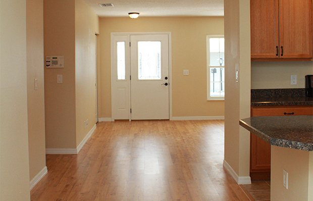 Open floor space after the renovation.