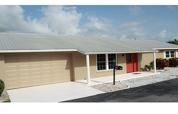 House exterior after remodeling.