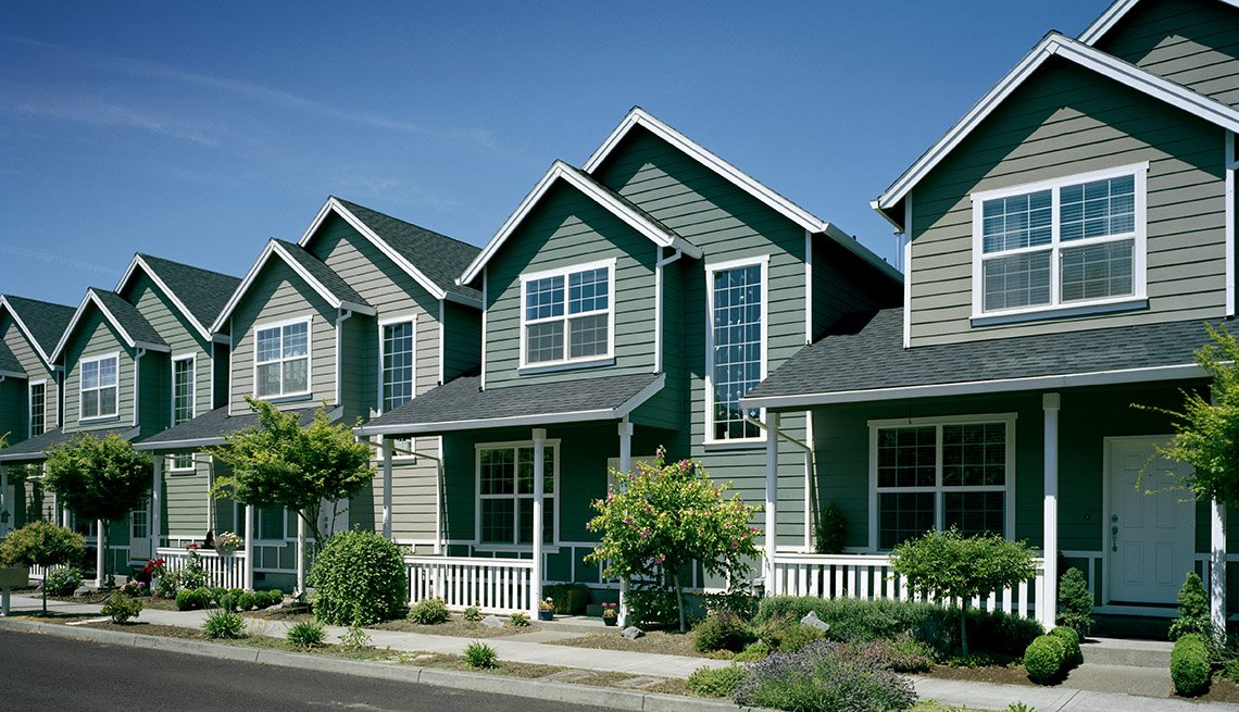 Rows Of Homes, Daylight, Housing, Porches, In Livable Communities Slideshow