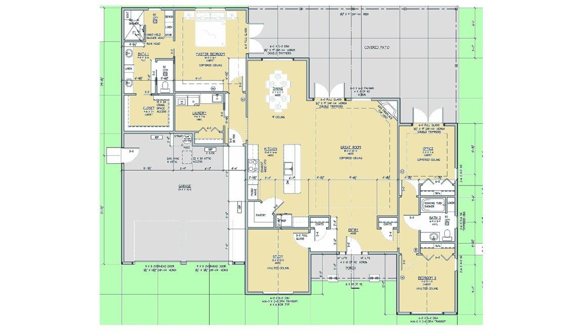 Blueprint, Floorplan, Residence, Oregon, Livable Communities, Lifelong Homes