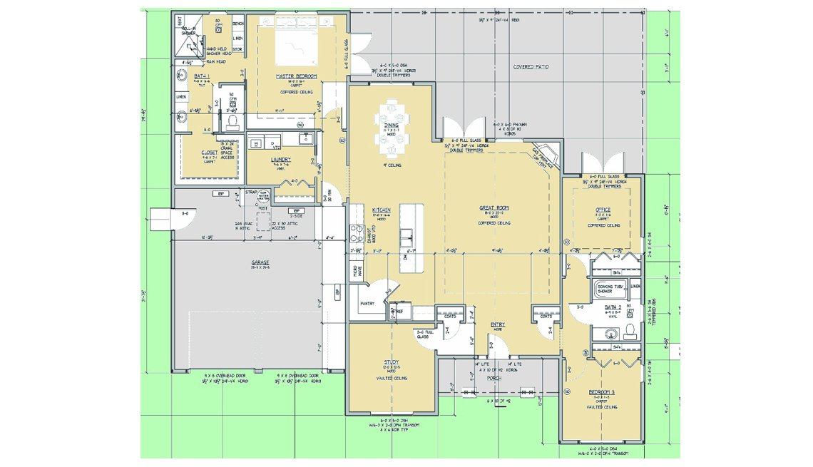 Blueprint, Floorplan, Residence, Oregon, Livable Communities, Lifelong Homes