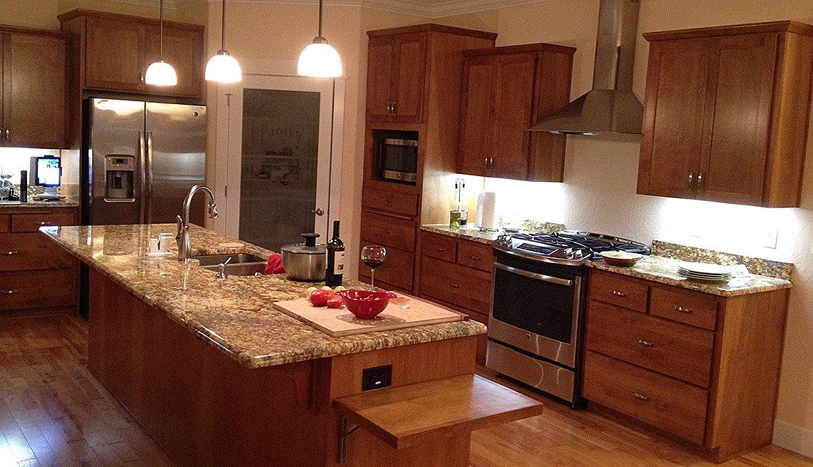 Overall Kitchen Shot, Countertop, Island, Stove, Sink, Oregon, Lifelong Homes, Livable Communities