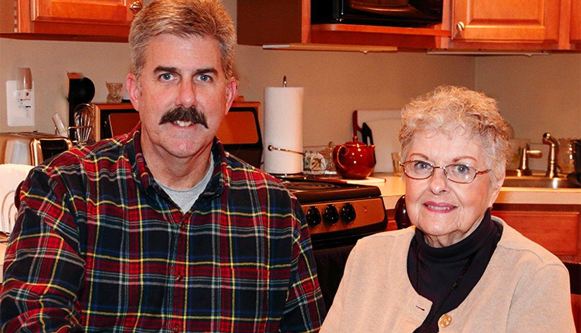 Home builder/remodeler Vince Butler and his mother