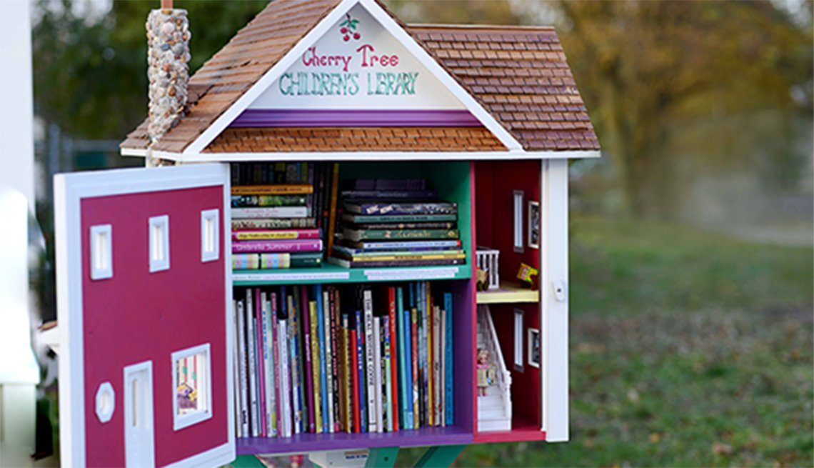 A little library called the Cherry Tree Children's Library