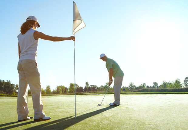 A couple golfing, Birthday freebies and deals