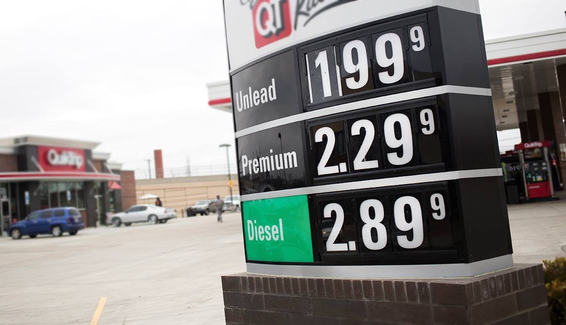 unleaded gas advertised below two dollars a gallon, Shocking money facts of 2015