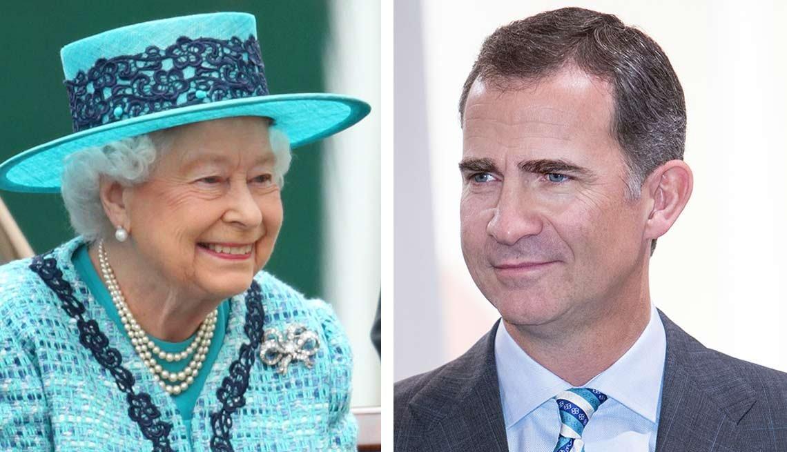 Reina de Inglaterra, Rey de España - Salarios de los famosos