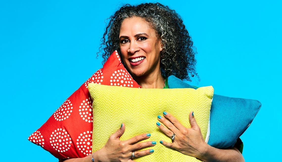 Retrato de la experta en el hogar, Trae Bodge editora para Retailmenot, como parte del segmento 99 formas de ahorrar