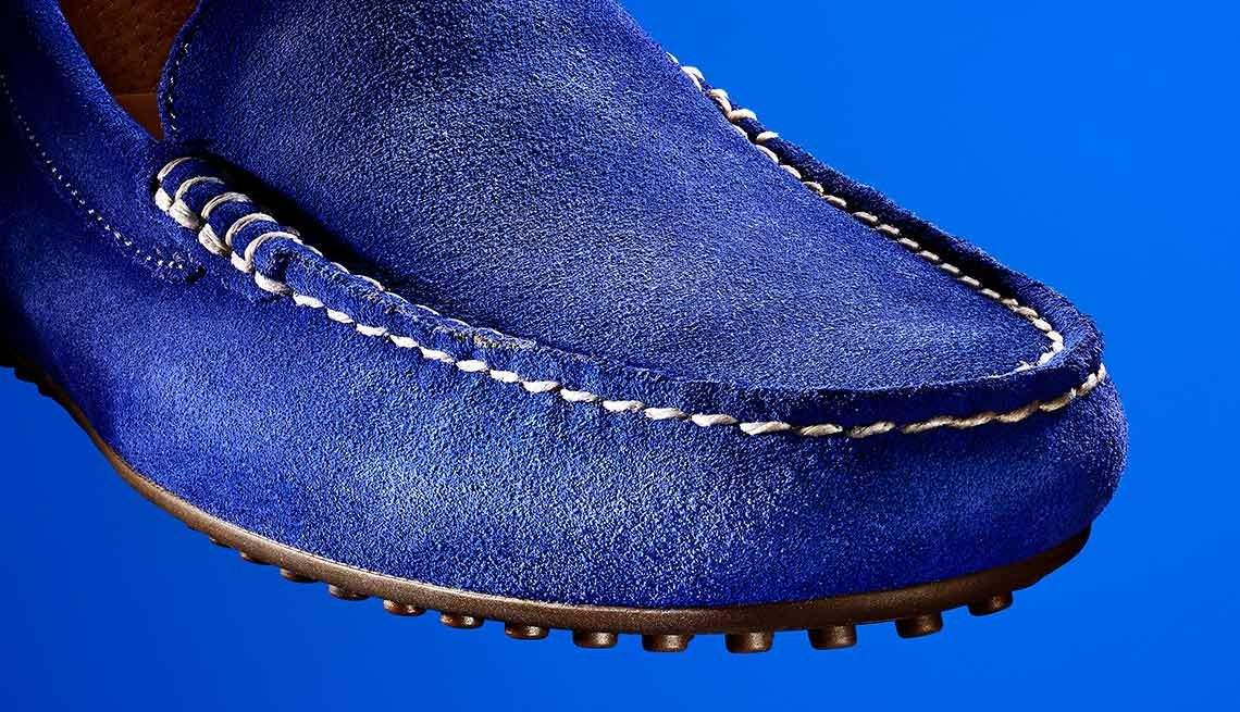 Choose suede. Buy low-price suede shoes or booties instead of inexpensive leather.