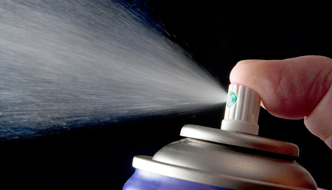 Household items with multiple uses - hair spray