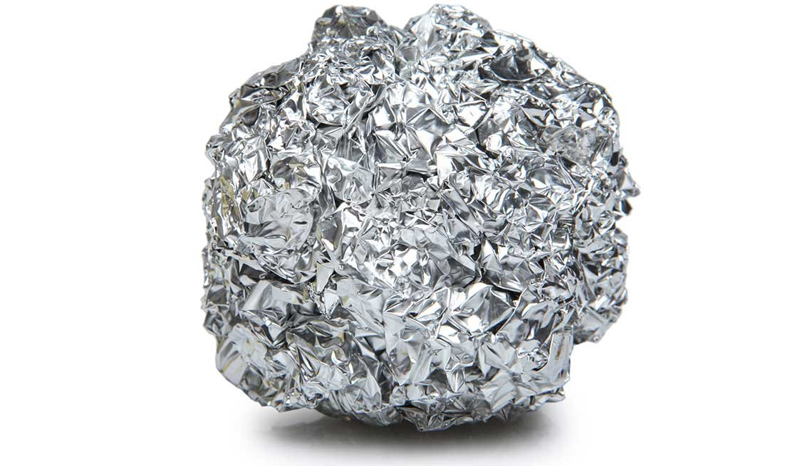 Household items with multiple uses -  tin foil