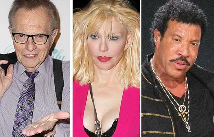 Larry King, Courtney Love, and Lionel Richie, Celebrity money trouble