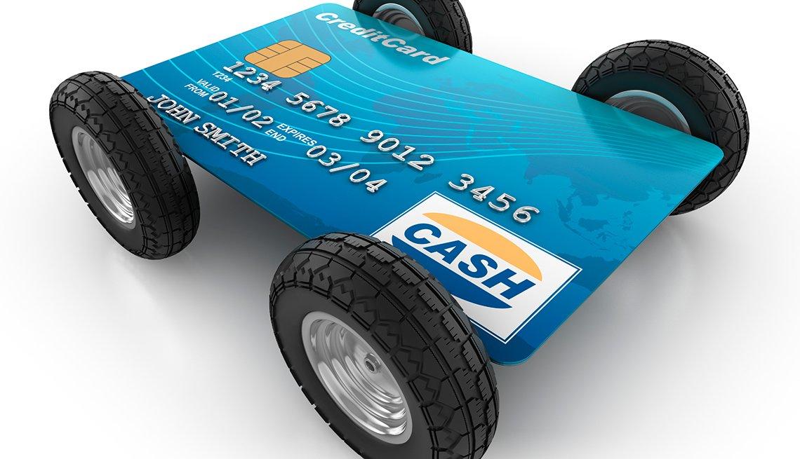 Tarjeta de crédito con 4 llantas, y cómo aprender a manejar tu crédito