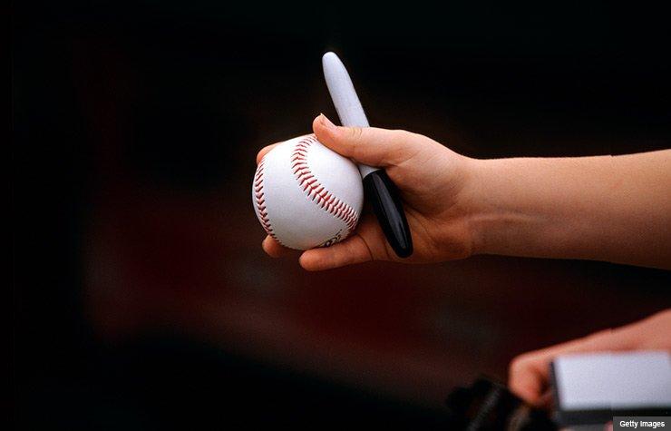 Baseball autograph
