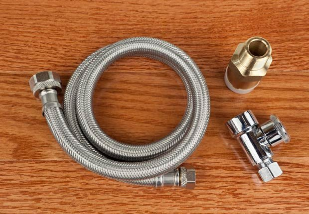 Stainless steel hoses for washing machine. (Don Nichols/Istockphoto)