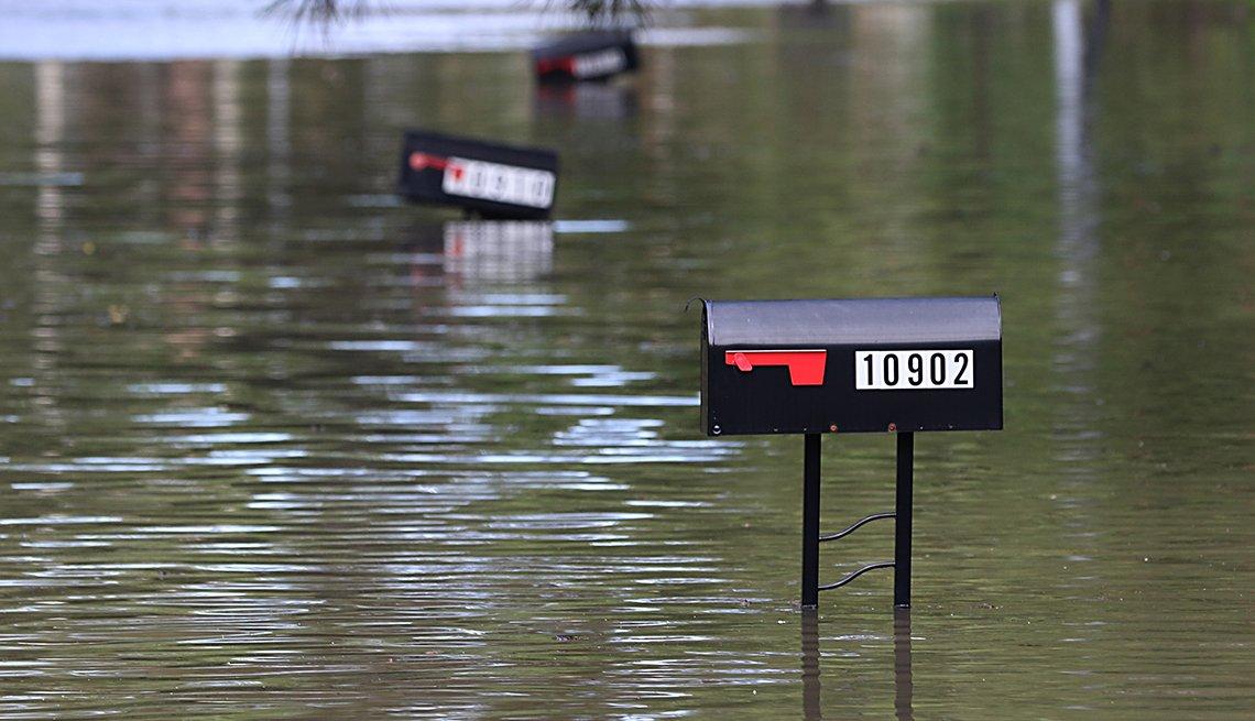 Buzones de correo en Houston después del paso del huracán Harvey