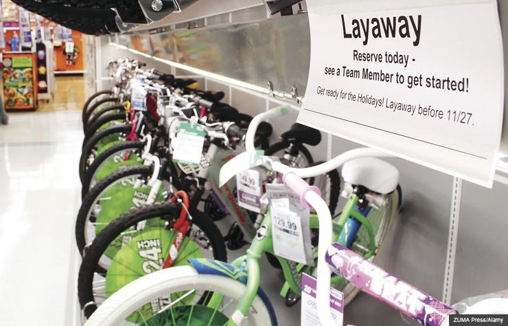 Bicycles in store. Dos and Don'ts of using layaway. (ZUMA Press/Alamy)