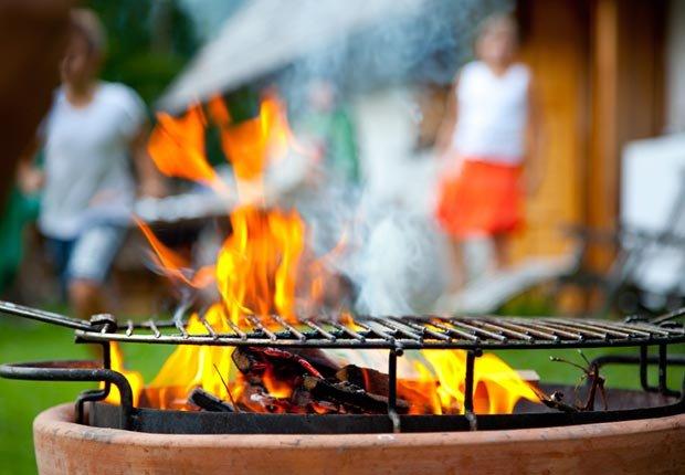 grill in back yard
