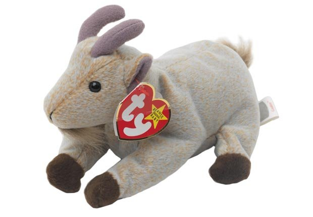 Beanie Baby Mountain Goat By ty Soft toy (Art Directors & TRIP / Alamy)