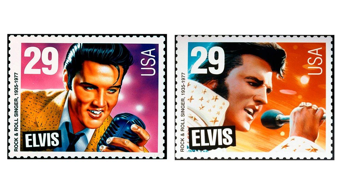 Estampillas de Elvis Presley, artículos de colección de valor