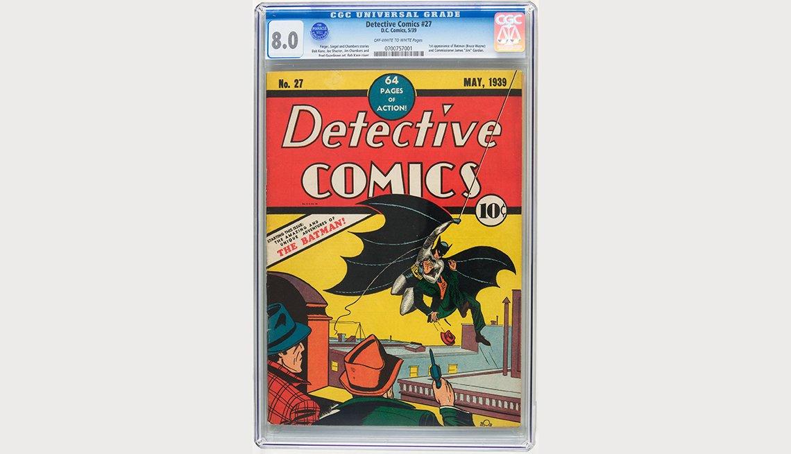 Revista de tiras cómicas de Batman Detective Comics, artículos de colección de valor
