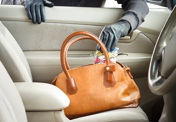 thief stealing purse from car, Anatomy of an Identity Theft