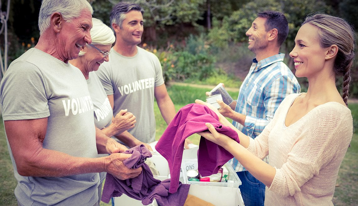 volunteering clothing drive