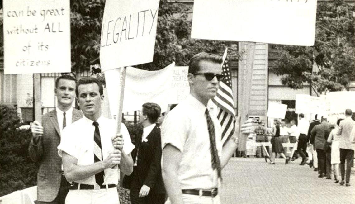 Milestones in Gay History in America - early demonstrations
