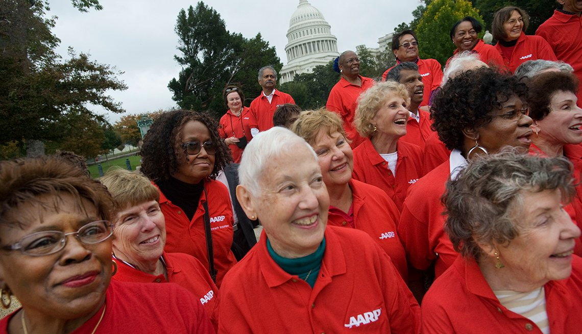 AARP volunteers lobbying members of the U.S. Congress over Social Security and Health care on Capitol Hill in the Nation's Captiol in Washington DC.